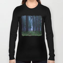 Green Magic Forest - Landscape Nature Photography Long Sleeve T-shirt