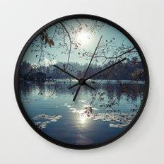 India - Blue lake Wall Clock