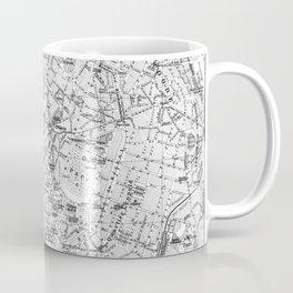Vintage Map of Brussels (1905) BW Coffee Mug