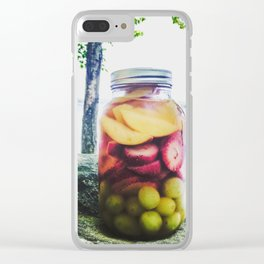 Mason Jar Camping Sangria on Lake Pemaquid, Maine Clear iPhone Case