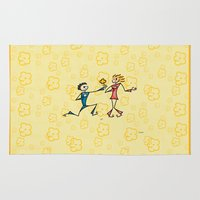 lovers Area & Throw Rugs featuring Lovers by Giuseppe Lentini