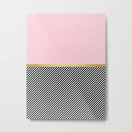 Pink golden pattern Metal Print