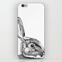 hare iPhone & iPod Skins featuring Hare by E.K Lux