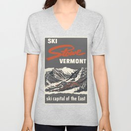 Stowe Vermont, ski capital of the east Unisex V-Neck