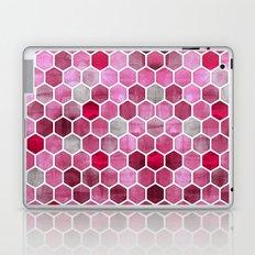 Pink Ink - watercolor hexagon pattern Laptop & iPad Skin