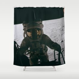 Apollo 12 - Astronaut Down The Ladder Shower Curtain