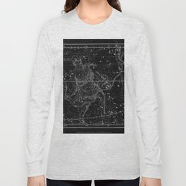Celestial Map print from 1822 Long Sleeve T-shirt