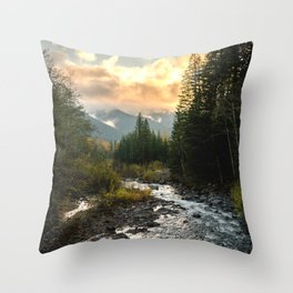 The Sandy River I - nature photography Throw Pillow