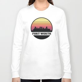 Fort Worth Skyline Long Sleeve T-shirt