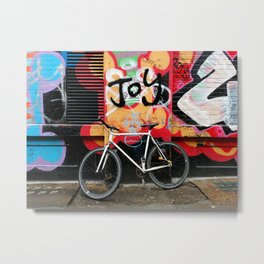 Joy & bike Metal Print