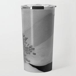 Wild Beach Rose in Black and White Travel Mug