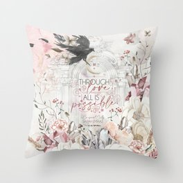 Through Love (SJM) Throw Pillow