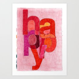 Happy One, from the Happiness Series Art Print