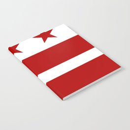 Washington DC District Of Columbia Flag Notebook