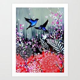 New Zealand Abstract Design Art Print
