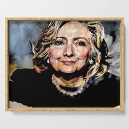 HILLARY CLINTON OFFICIAL PORTRAIT Serving Tray