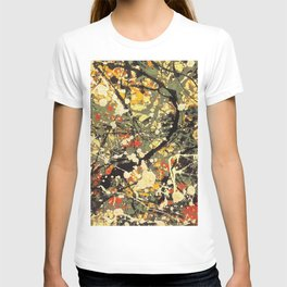 Jackson Pollock, digitally vectorised and filtered, fine art decor and clothing T-shirt
