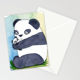 Panda Hug Stationery Cards