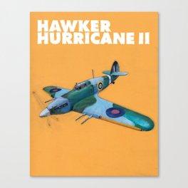 RAF Hawker Hurricane by Dennis Weber of ShreddyStudio Canvas Print