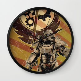 Fallout 4 - Brotherhood of Steel recruitment flyer Wall Clock