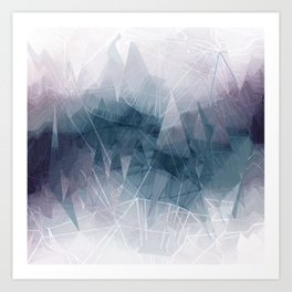 Ameythist Crystal Inspired Modern Abstract Art Print