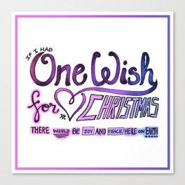 One Wish Canvas Print
