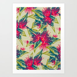 New Zealand Rata floral print (Day) Art Print