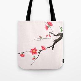 red Japan begonia Tote Bag