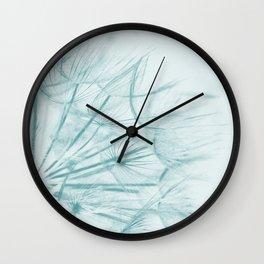 Dandelion In Blue Wall Clock