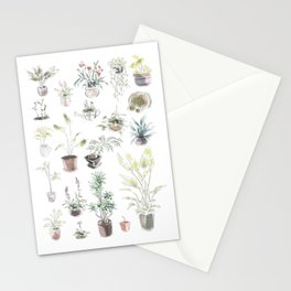 Plant design 4 Stationery Cards