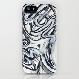 Graffiti inspired black and white iPhone Case
