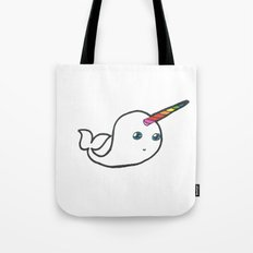 Rainbow Narwhal Tote Bag