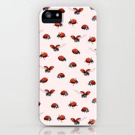 Ladybugs on Pink iPhone Case