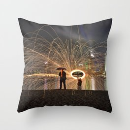 Spark Showers, Coronado Throw Pillow