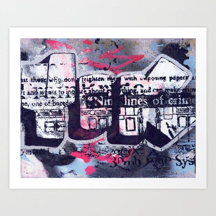 Yok 9 Lines Throwie Art Print