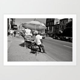 Bubble Vendor - Manhattan, New York Art Print