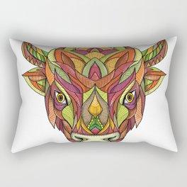 American Buffalo Bison Mandala Rectangular Pillow