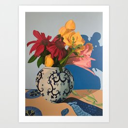 Echinacea in Bud Vase Art Print