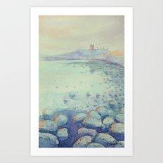 Dunstanburgh Castle Sunset Art Print