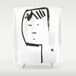 Ink face Oh Shower Curtain