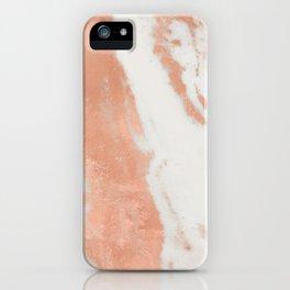 Marble Rose Gold Shimmer Light iPhone Case