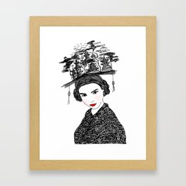 Beijing Girl - Illustration By Chrissy Lau Framed Art Print