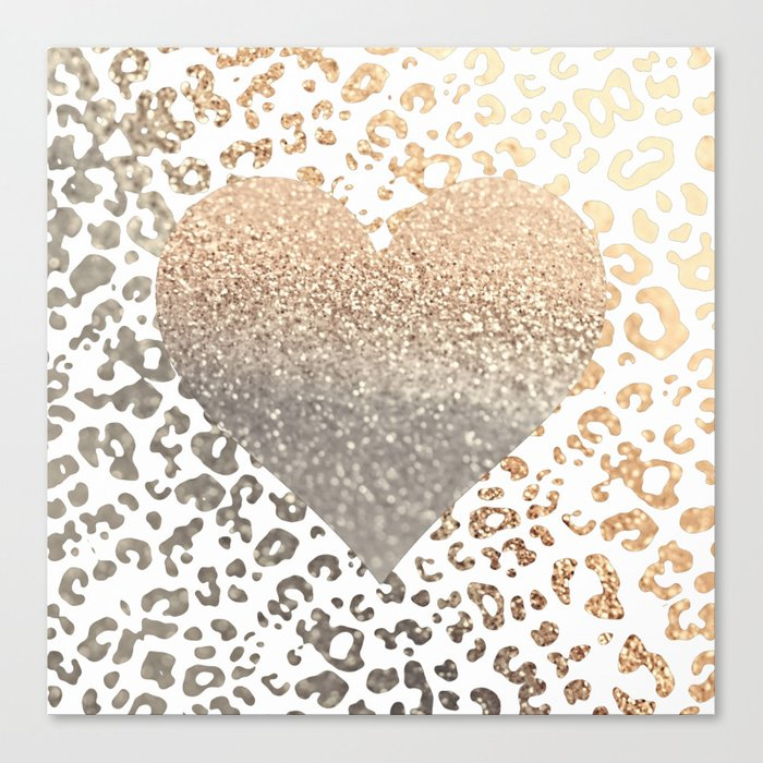 GOLD HEART LEO Canvas Print