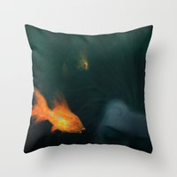 underwater Throw Pillows featuring Underwater by Filip Radulescu