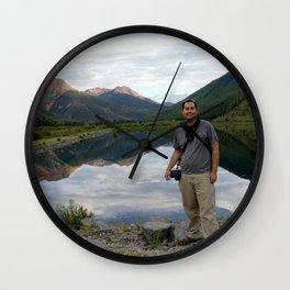 Photographer on Crystal Lake Wall Clock