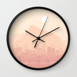 Clear morning Wall Clock