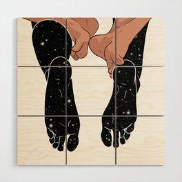 Plexus of the legs Wood Wall Art