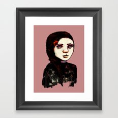 Charcoal IX Framed Art Print