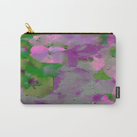 Raw Paint 1 - Purple And Green Carry-All Pouch