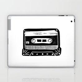 Linocut cassette tape retro analog tape 80s 90s technology gifts Laptop & iPad Skin